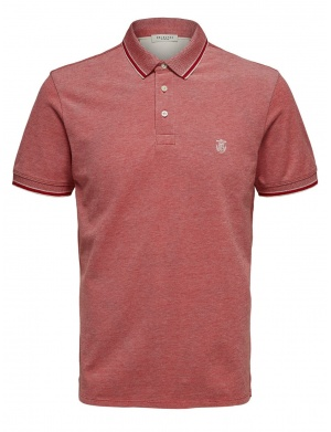 Polo manches courtes homme rouge