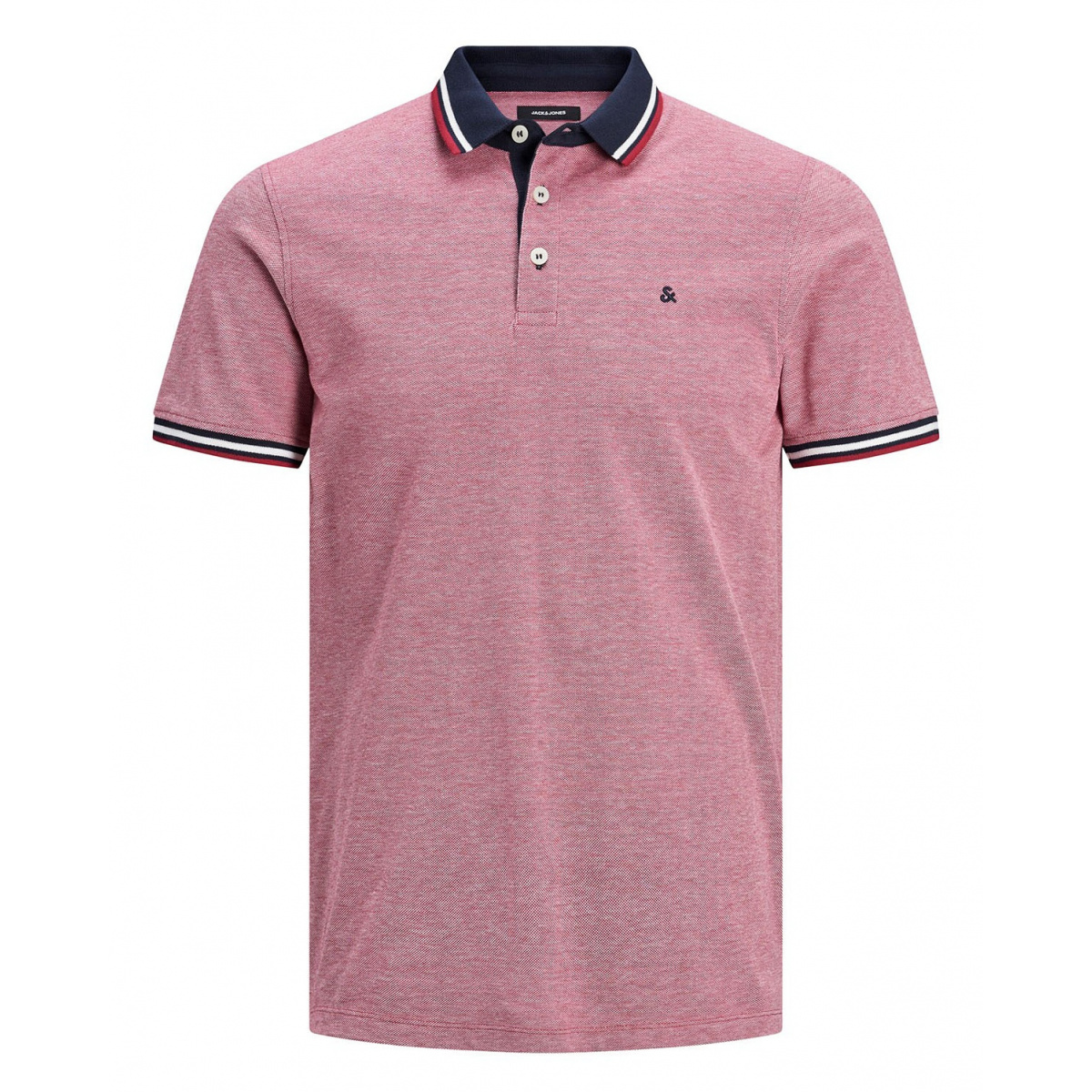 Polo manches courtes homme rose Premium by