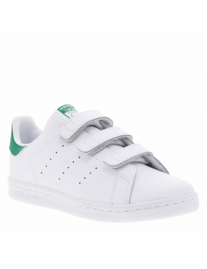 Baskets basses cuir à velcros STAN SMITH