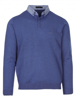 Pull col polo homme