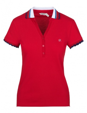 Polo femme rouge