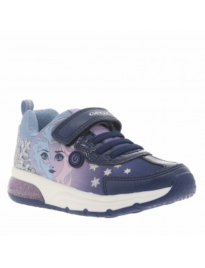 Baskets basses cuir SPACECLUB fille