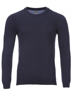 Pull col rond doublé homme