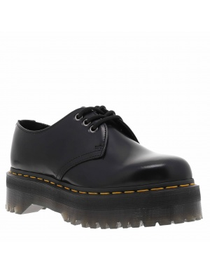 Derbies cuir BLACK POLISHED femme
