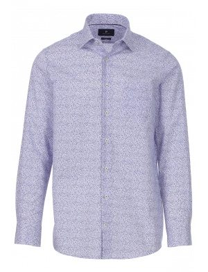 Chemise manches longues col italien homme