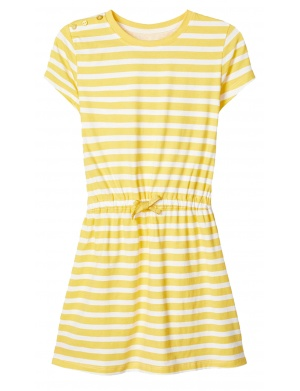 Robe manches courtes fille jaune