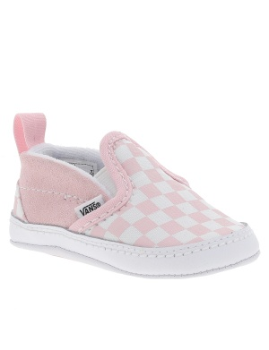 Baskets basses cuir CHECKERBOARD SLIP-ON fille