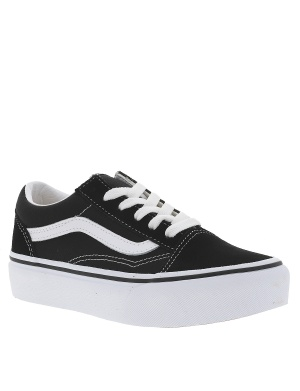 Baskets basses cuir OLD SKOOL PLATFORM fille