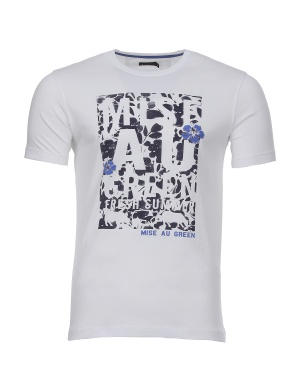 T-shirt manches courtes col rond homme