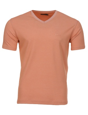 T-shirt manches courtes col V homme