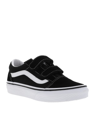 Baskets basses cuir OLD SKOOL mixte enfant