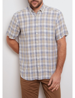 Chemise homme beige