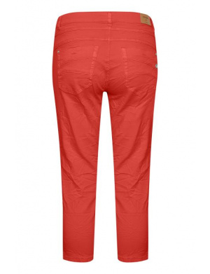Jeans taille haute rouge