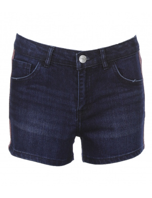 Short jean fille taille ajustable
