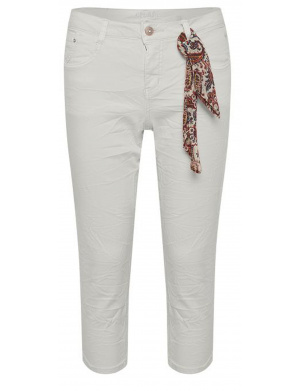 Jeans taille haute blanc