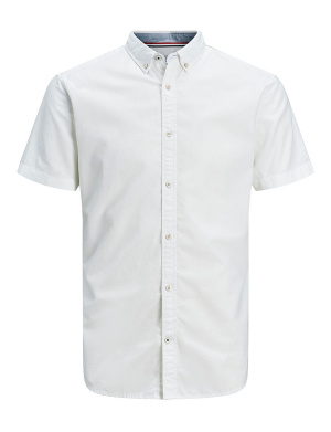 Chemise manches courtes homme blanc