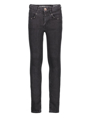 Jean fille coupe skinny anthracite