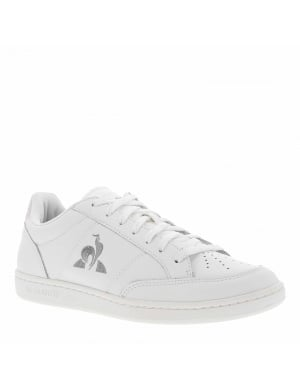 Baskets basses femme COURT CLAY cuir blanc