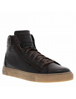 Baskets montantes homme NERINO cuir marron