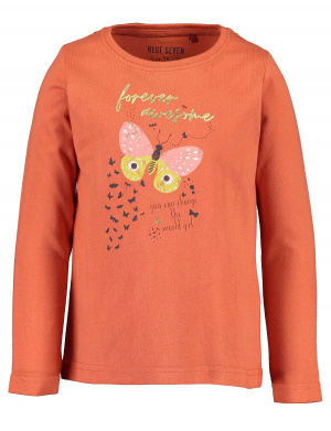 T-shirt manches longues fille rouge