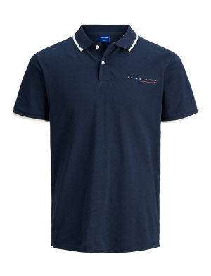 Polo homme coupe droite marine