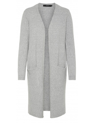 Cardigan femme coupe ample gris clair