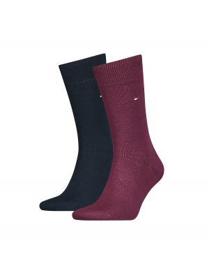 Chaussettes homme rouge