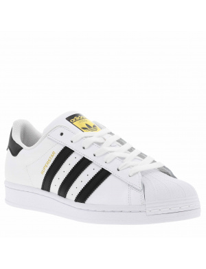Baskets basses hommes SUPERSTAR cuir blanc
