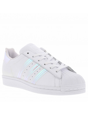 Baskets basses fille SUPERSTAR cuir blanc