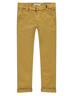 Pantalon garçon regular camel