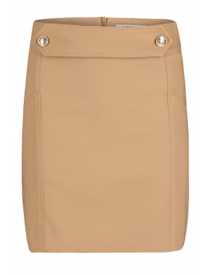 Jupe femme coupe droite beige