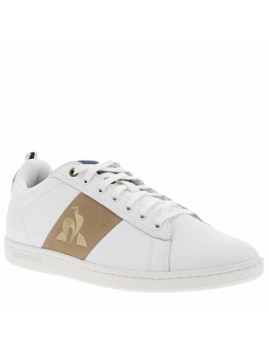 Baskets basses COURTCLASSIC STRAP cuir blanc