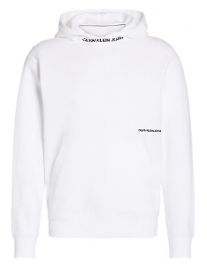 Sweat homme coupe droite blanc