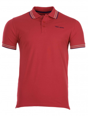 Polo homme manches courtes rouge