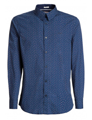 Chemise homme LS SUNSET SHIRT coupe droite marine
