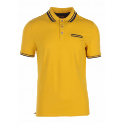 Polo manches courtes homme jaune