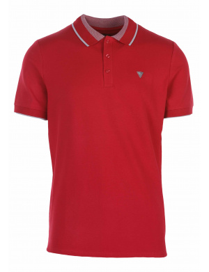Polo homme droit rouge