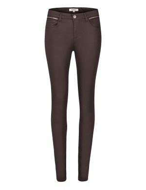 Pantalon femme coupe skinny anthracite