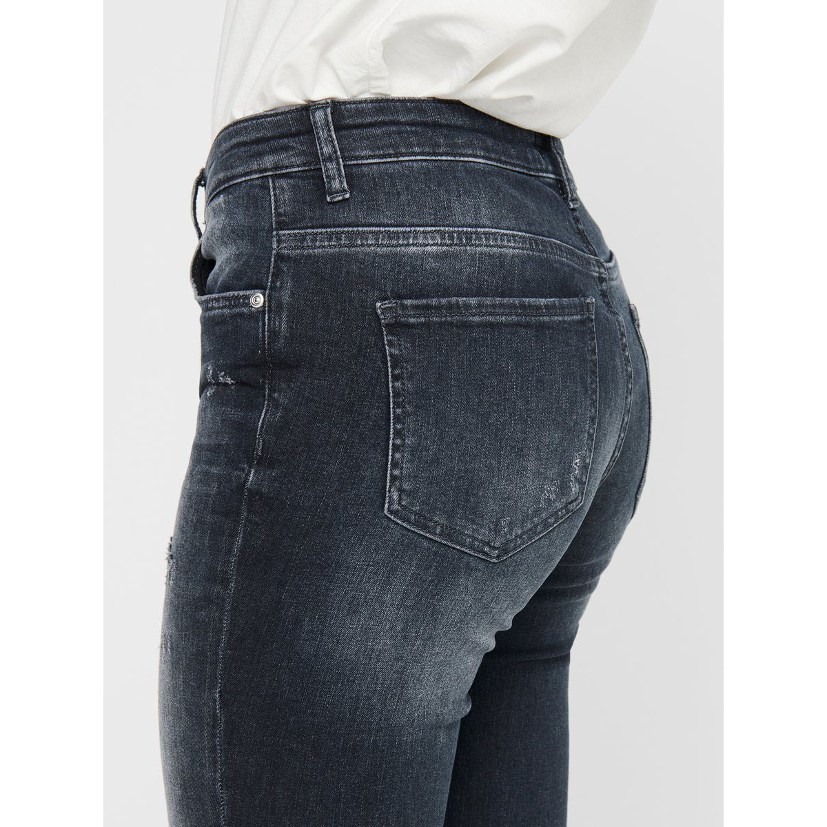 Jeans taille haute gris ONLY