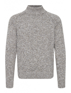 Pull col roulé homme blanc