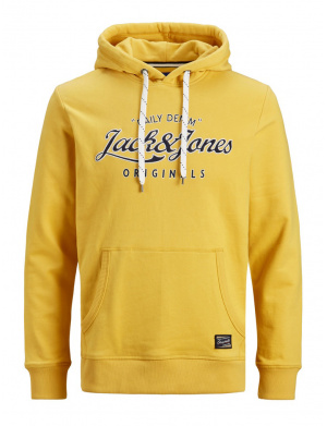 Sweat homme coupe droite jaune
