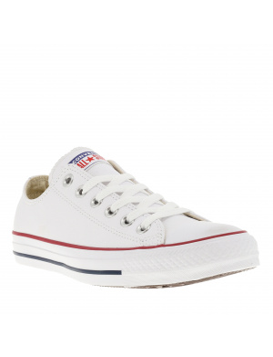 Basket femme CHUCK TAYLOR ALL STAR OX cuir blanc