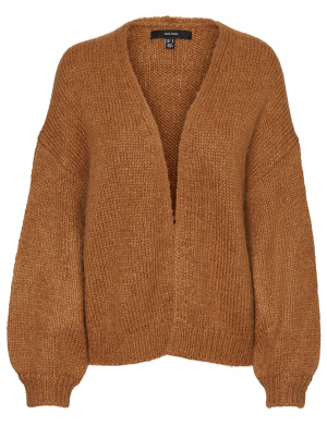 Cardi/Gilet femme coupe ample tabac
