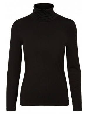 Pull femme coupe stretch noir