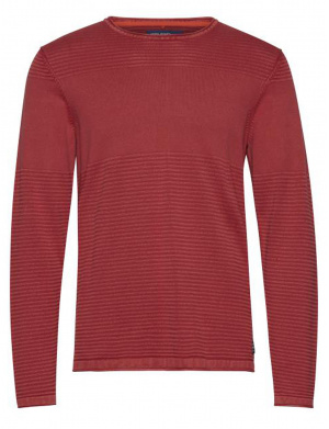 Pull homme coupe droite rouge