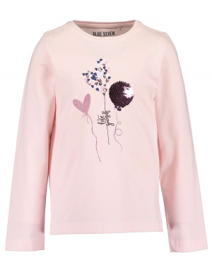 T-shirt manches longues fille rose