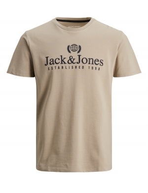 T-shirt homme coupe droite taupe