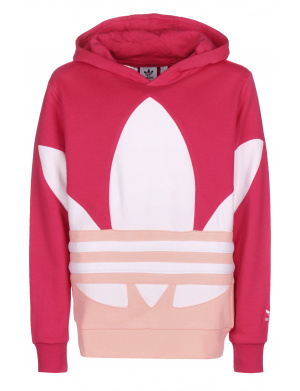sweat junior fille droite uni  rose et blanc