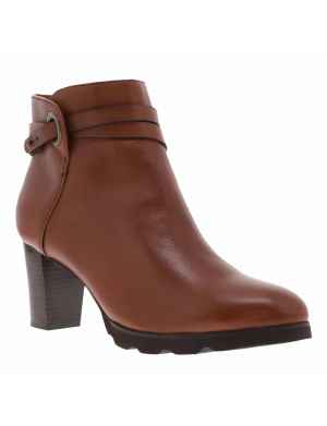 Boots femme PATRICIA cuir marron
