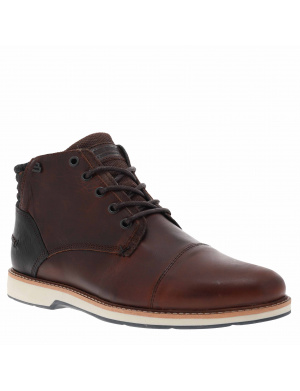 Boots homme cuir marron